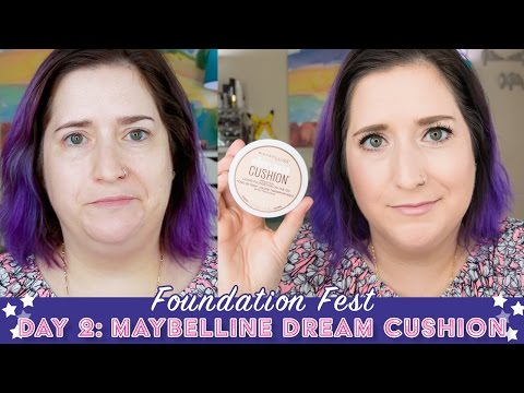 FOUNDATION FEST Maybelline Dream Cushion | Pale, Dry Skin
