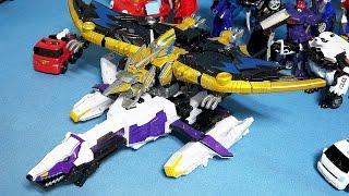 파워레인저 다이노포스 또봇 프레즈킹 vs 프테라킹 변신 쿼트란 장난감 power rangers dino charge kyoryuger toys