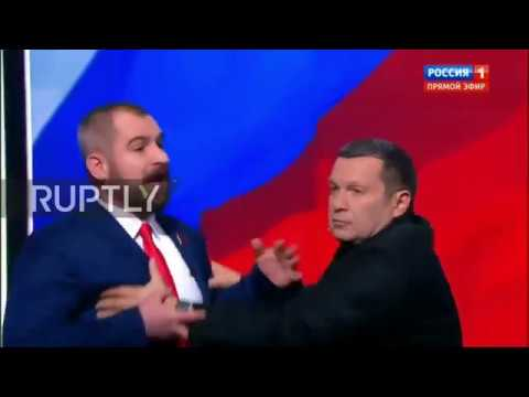 Russia: 'I'll beat you up!' - Candidates nearly come to blows during debate