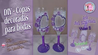 DIY- Copas decoradas para bodas / Serie bodas, video 2