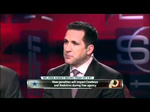 Will Cap Penalties Impact Cowboys And Redskins - SportsCenter (03-13-2012)