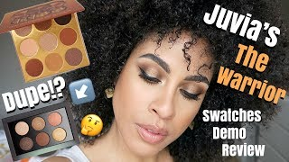 JUVIA'S THE WARRIOR PALETTE | DEMO, SWATCHES, + REVIEW | kinkysweat