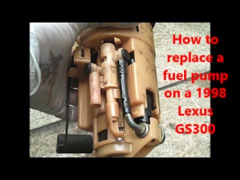 How to replace fuel pump 1998 Lexus GS300 remake - YouTube