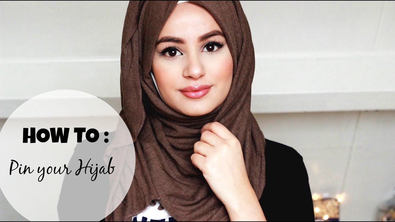 How to : Pin your Hijab! - YouTube