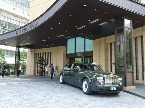 Rolls Royce Phantom. The Peninsula Hotel to Tokyo Skytree. Tokyo, Japan