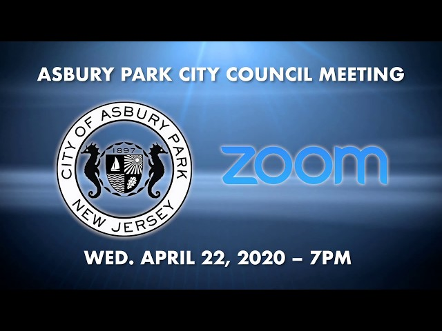 How-to join Asbury Park City Council Meeting for April 22, 2020