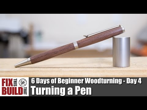 Pen Turning with Basic Tools  | How to Make a Pen