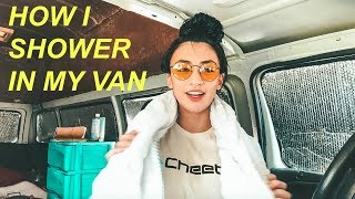 solo female van life how i shower in my van hobo ahle