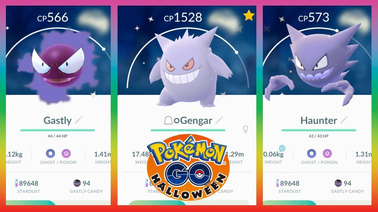 Image result for shiny gastly in pokemon go