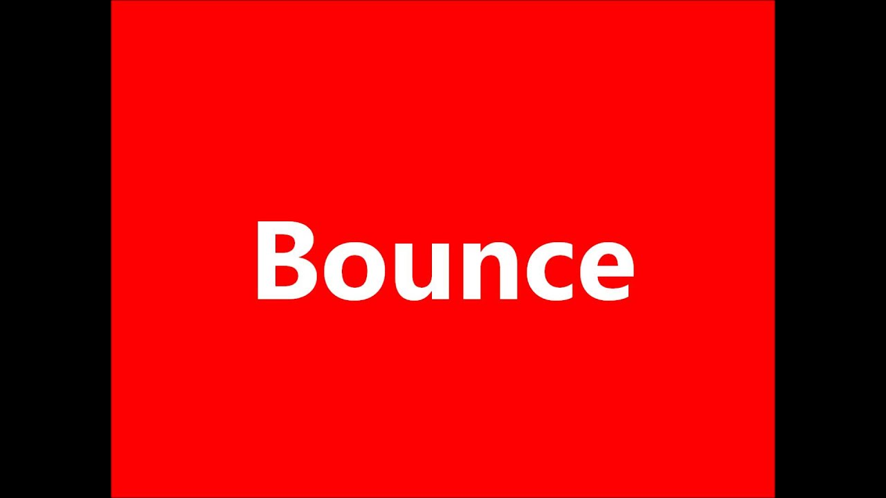 Cartoon Bounce Sound Effect Youtube