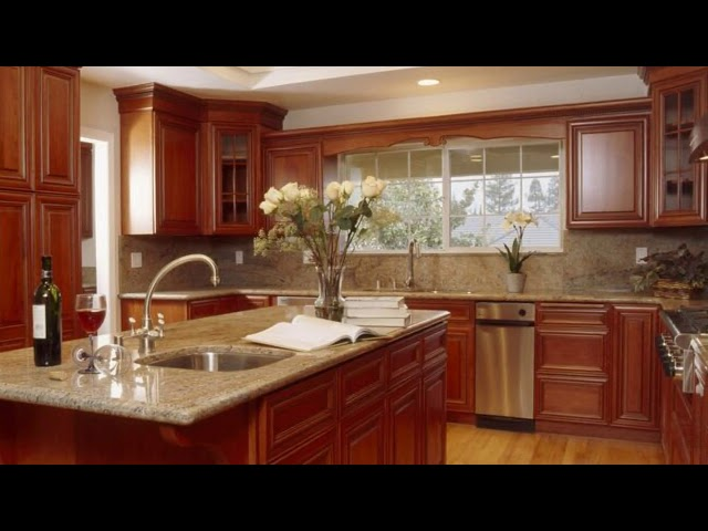 Wood Kitchen Cabinets with Glass Doors Designs