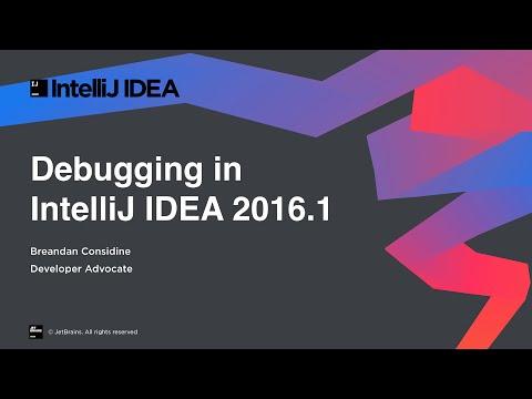 Debugging in IntelliJ IDEA 2016.1
