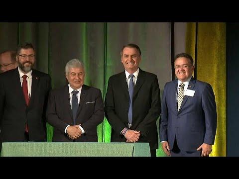 A brazil elnök amerikai üzletemberekkel találkozott
