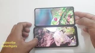 Redmi K20 pro vs Realme X display quality comparison