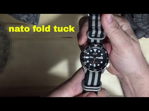 NATO strap fold tuck different way to strap up