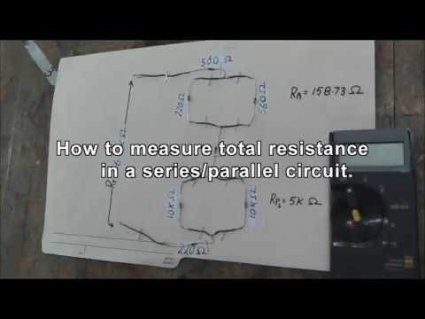 Measure total resistance in series+parallel circuit
