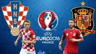 Croácia x Espanha (21/06/2016) EUROCOPA 2016 - 3° Rodada do Grupo D [PES 2016]