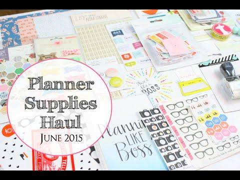 Planner Supplies Haul: June 2015