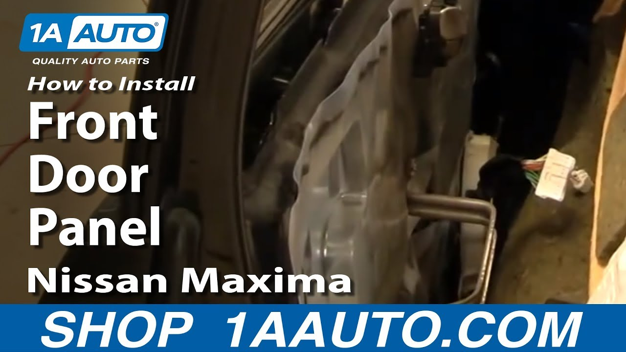 How To Remove Front Door Panel 00 03 Nissan Maxima Youtube