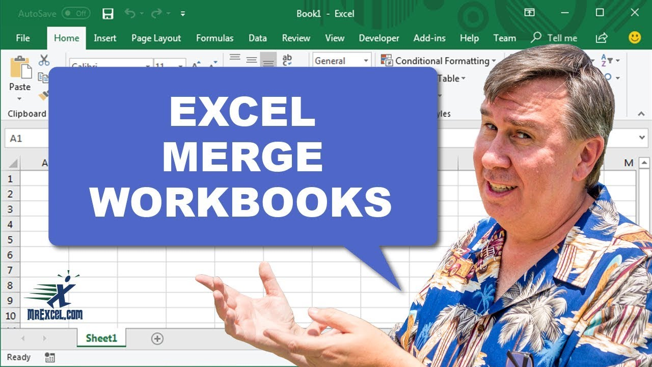 Learn Excel - Merge Workbooks - Podcast 2077 - YouTube