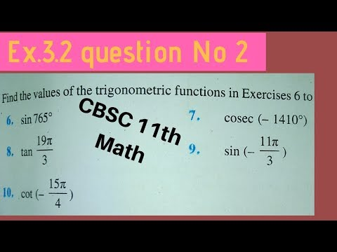 Exercise 3.2 Q.2 CBSC 11th Math In Hindi