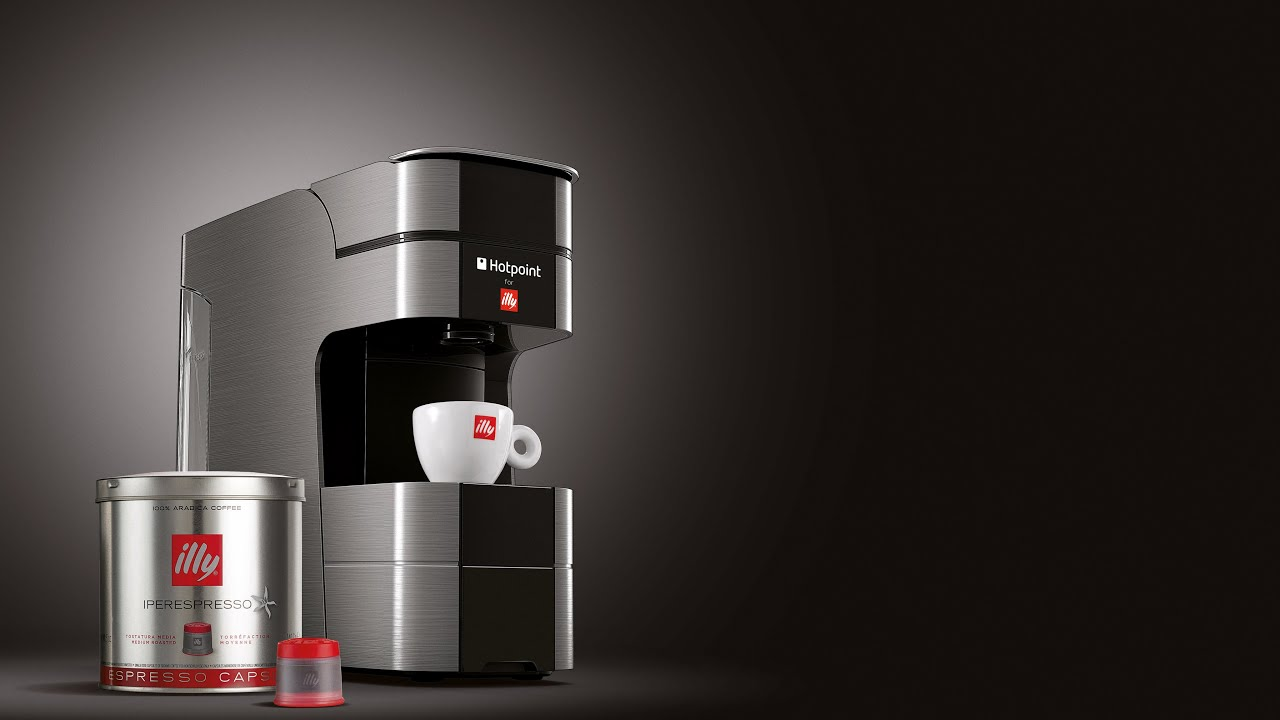 Hotpoint for illy Espresso Machine With Capsule System - YouTube
