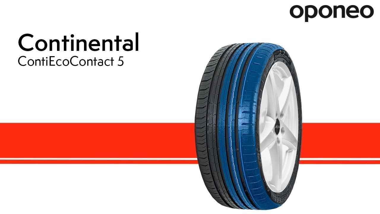 Opona Continental Contiecocontact 5 Opony Letnie Oponeo Youtube