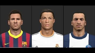 PES 2014 • Ronaldo Messi Ibrahimovic Suarez Neymar ISCO Faces | Download • HD Thumbnail