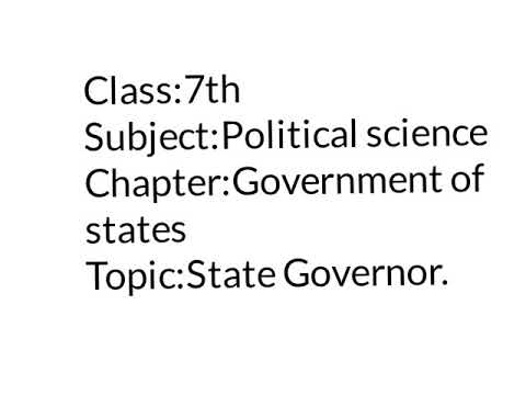 Class7th, Political science, Government of states lecture by Miss Nazima