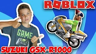 SUPER FAST MOTORCYCLE SUZUKI GSX-R1000 in ROBLOX VEHICLE SIMULATOR   EJECT SEATS   DRAG RACES