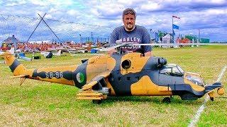 SUPER BIG RC MIL MI-24  SUPERHIND SCALE MODEL TURBINE RUSSIAN HELICOPTER FLIGHT DEMONSTRATION