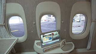 First Class Virtual Windows Guided Tour | Boeing 777 | Emirates Airline