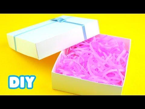 Коробка для подарка своими руками из картона схема с размерами