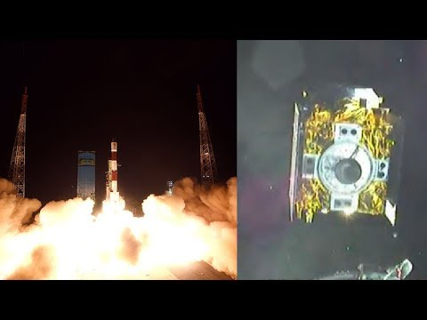 PSLV-C41/IRNSS-1I launch & spacecraft separation (onboard camera view)