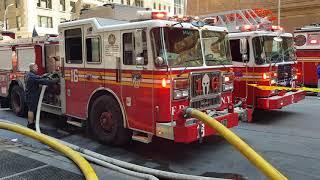 Incendie 7ème avenue NEW-YORK  21 avril 2018.
