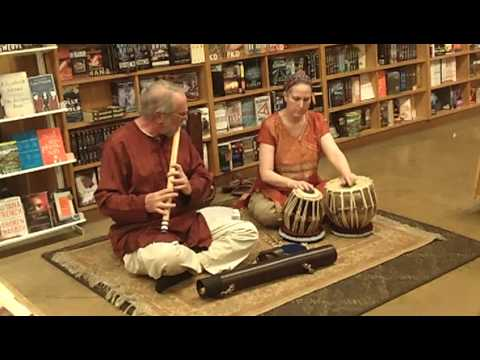 Jeff Whittier on bansuri flute and Leslie Schneider on tabla. Classic North Indian flute