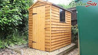 Product Demo: Halls 6ft x 4ft Overlap Apex Garden Shed