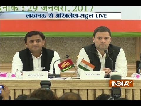 Watch Rahul Gandhi and Akhilesh Yadav Joint Press Conference after SP-Congress Alliance