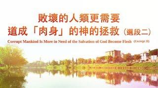 末世基督的說話《敗壞的人類更需要道成「肉身」的神的拯救》選段二