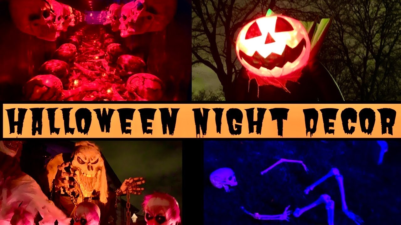 Halloween Night Decor | Haunted House Decor | Trick Or Treat Canada Vlogs | Pumpkin Carving