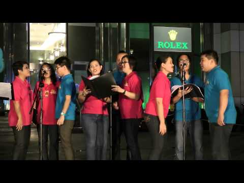 Christmas Carolling 2013 at Orchard Road Singapore by His Sounds (full video)