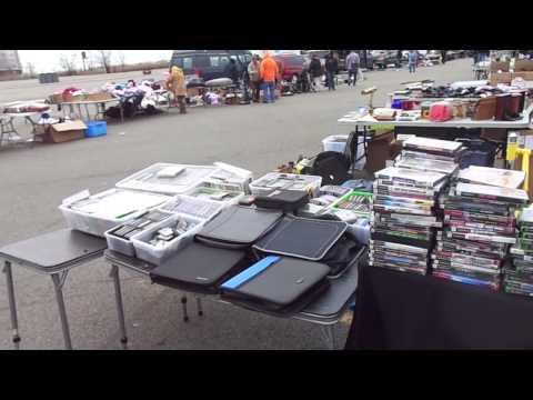 Meadowlands Stadium Flea Market Set Up Secaucus NJ - 3/28/15