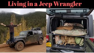 Living in a Jeep Wrangler: Internal Bed