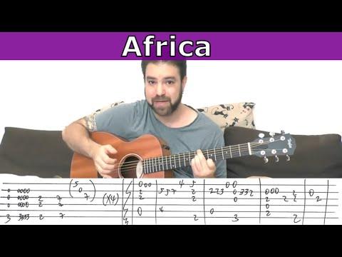 Fingerstyle Tutorial: Africa [Full Instrumental] - Guitar Lesson w/ TAB