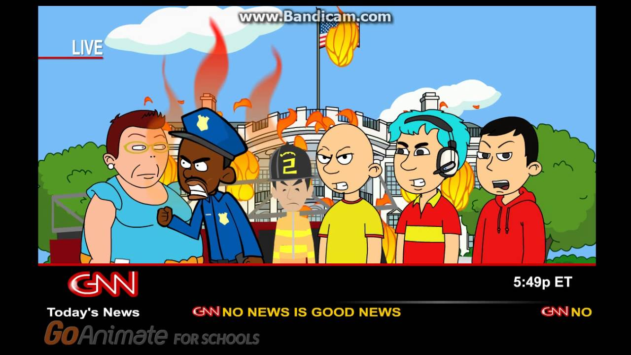 clasic caillou sets the white house on fire amp gets