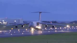 USAF C-5M Supergalaxy RCH874 - Departing Prestwick Airport [4K/UHD]