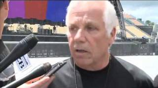 Jake Berry video interview - Setting the stage for U2, Auckland, NZ