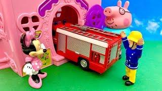 Bajka Strażak Sam, Myszka Minnie i Tata Świnka po Polsku  Wypadek ! Hamulce mi przestały działać