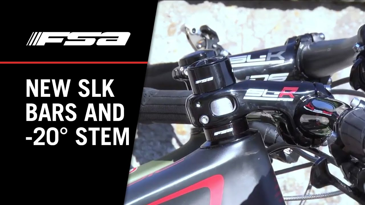 FSA SL-K Handlebars And -20° Angled Stem & FSA SL-K Handlebars And -20° Angled Stem - YouTube