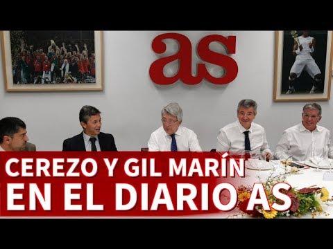 Enrique Cerezo y Gil Marín visitan la redacción del Diario AS | Diario AS